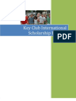 2009 Key Club Scholarship Booklet