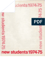 1974-1975 Oberlin College freshman facebook
