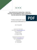 Evaluation of EIA