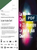 Invitation - Le Jour Le Plus Court - Marseille La Friche La Belle de Mai