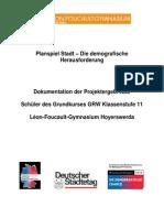 Planspiel Stadt Dokumentation Léon-Foucault-Gymnasium Hoyerswerda