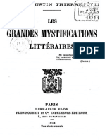 Thierry Augustin-Jules-Gilbert - Les Grandes Mystifications Litteraires Premiere Serie