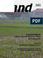 LAND. Media Pengembangan Kebijakan Pertanahan Edisi Mei-Jul 2007. Land reform dan Land reform Plus di Indonesia