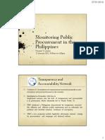 Monitoring Public Procurement in the Philippines-(TAN)