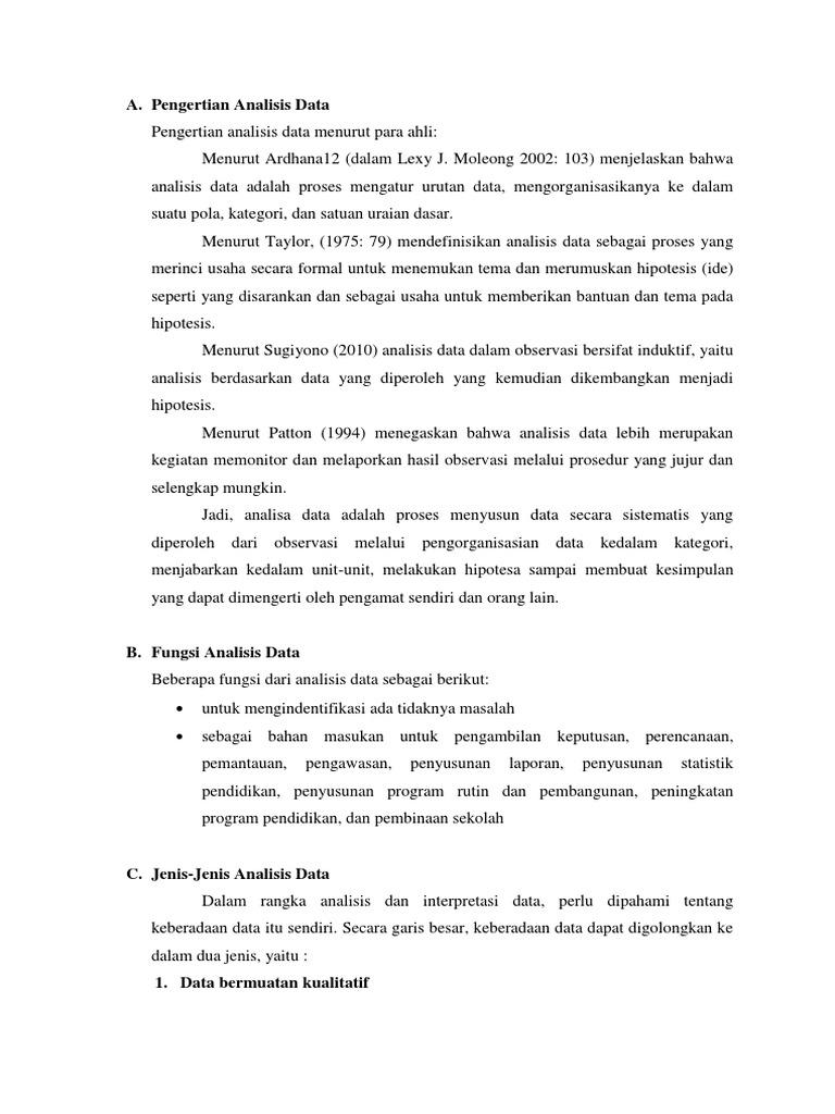 Analisis Data Dan Interpretasi Data1