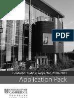 Graduate Application Pack 2010-11