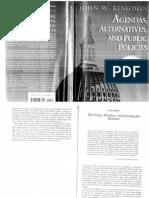 Agendas Alternatives and Public Policies Cap8