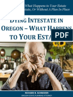 Dying Intestate in Oregon - What Happens to Your Estate?