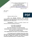 Lettre Au Maire de Paris Maintien de l'APS Mensuelle