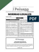 El Peruano,Leyes Sobre Salud
