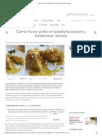 Cómo hacer pollo en pepitoria casero y tradicional
