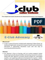 e-club powerpoint presentation 1