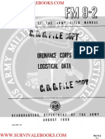 1959 US Army Vietnam War Ordnance Corps Logistical Data 126