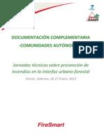 Jornadas técnicas sobre prevención de incendios en la Interfaz Urbano-forestal - Cheste 2012