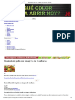 Ensalada de Pollo Con Vinagreta de Frambuesa - Receta