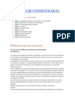 CURSO DE COSMETOLOGÍA