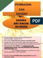 Analisa Keperibadian Saidina Abu Bakar Dan Saidina Umar
