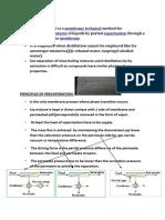 Principles of Pervaporation