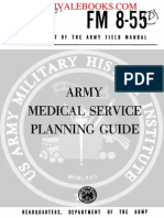 1960 US Army Vietnam War Army Medical Service Planning Guide 374p
