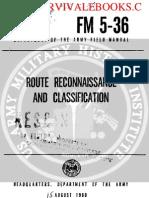 1960 US Army Vietnam War Route Reconnaissance & Classification 293p