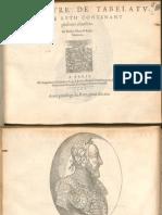 Albert de Rippe Tiers Livre de Tabelature de Luth