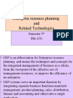 ERP and Related Technologies