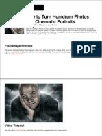 Photos Into Cinematic Portraits