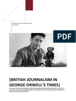 British Journalism In George Orwell's Times