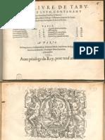 Albert de Rippe Qvart Livre Tabulature de Luth 1553