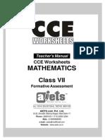 CCE Maths Teacher VII