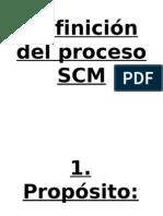 Definición del proceso SCM