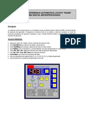 Manuale RGAM spagnolo | Relé | Diodo emisor de luz on