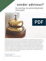 Met of zonder adviseur, derde generatie sourcing  van partnershipmodel naar ondernemersmodel