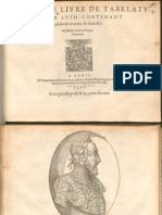 Albert de Rippe Cinqiesme Livre de Tabelature de Luth 1562