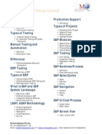SAP Testing Contents
