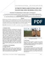 Ijret - Production of Electricity From Agricultural Soil and Dye Industrial Effluent Soil Using Microbial Fuel Cell