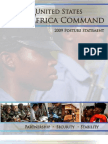United States Africa Command 2009 Posture Statement