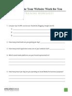Pre-Workshop Assessment Worksheet