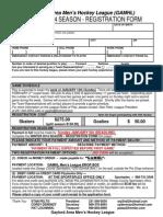 gamhl registration form winter 2014