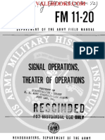 1962 US Army Vietnam War Signal Operations Theater of Operations 76p