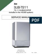 harman/kardon SUB-TS11 SERVICE MANUAL