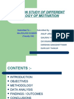 Project on Study of Different Methodology of Motivation(presentation)