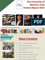 University of Women's Club Post Festival Report 2013 PDF