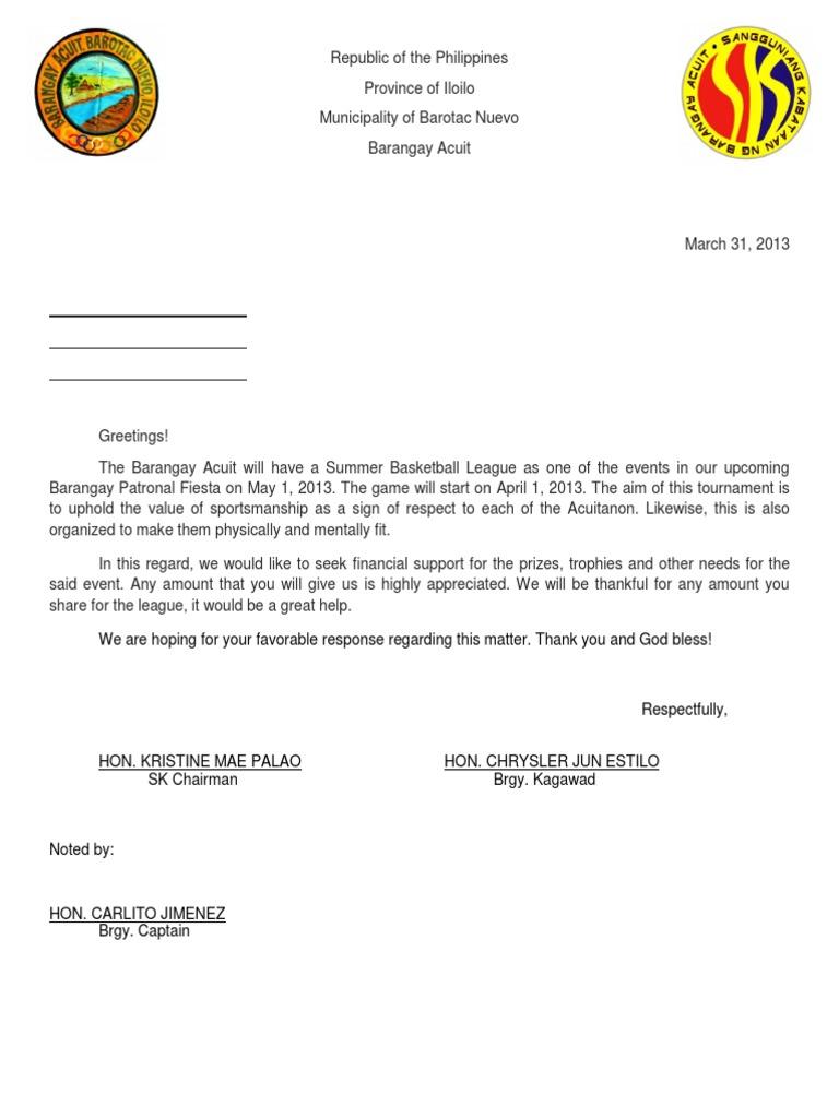 Sample of solicitation letter stopboris Gallery