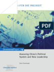 Assessing China's Political System and New Leadership