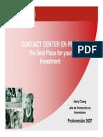ProInversion ContactCenter PPT Esp