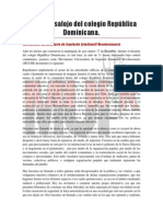 declaración desalojo colegio republica dominicana