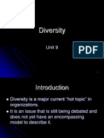 Unit 9 and 10 - Diversity and Ethics