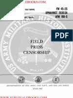 1967 US Army Vietnam War Field Press Censorship 85p