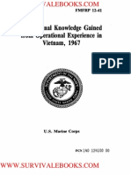 1967 US Army Vietnam War Professional Knowledge Gained From Operational Experience in Vietnam 510